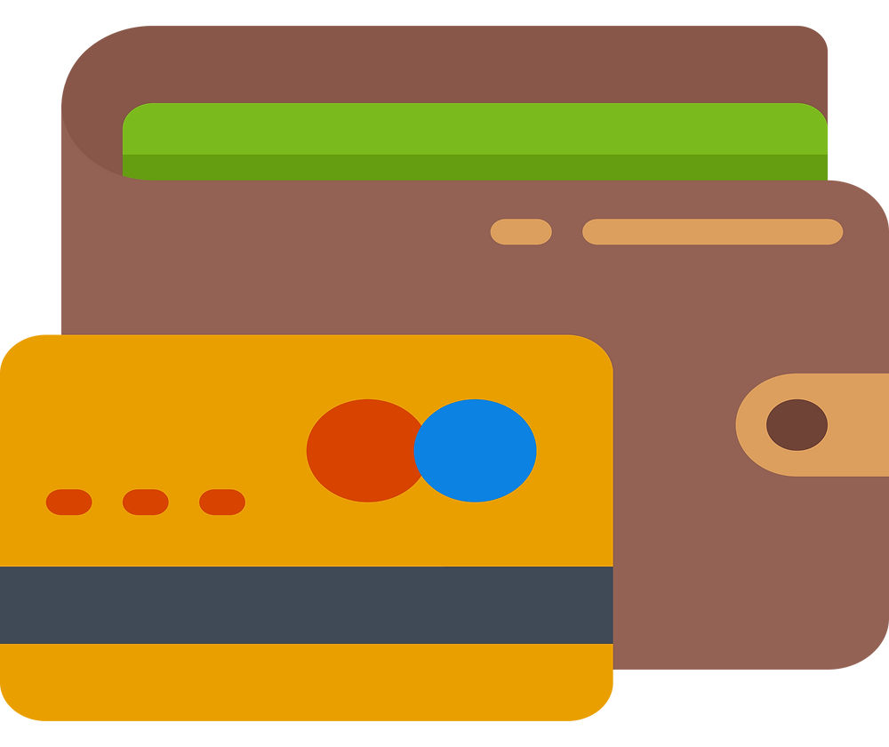 No-Spend Challenge: a wallet and a credit card