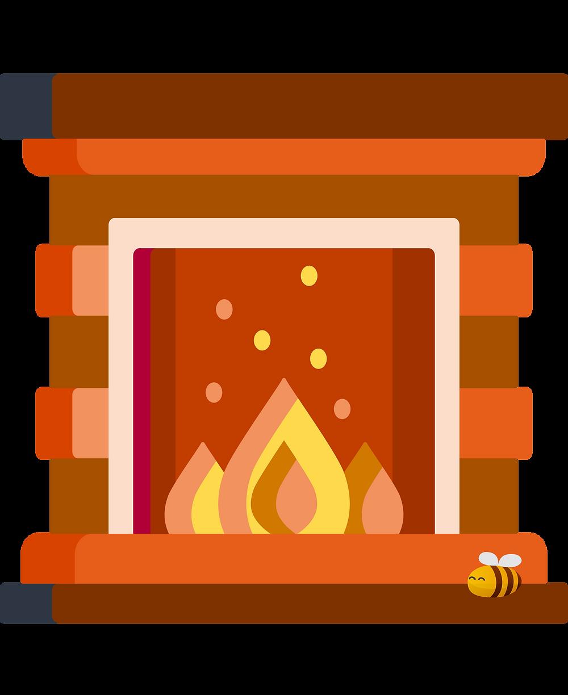 hyggelig: a fireplace