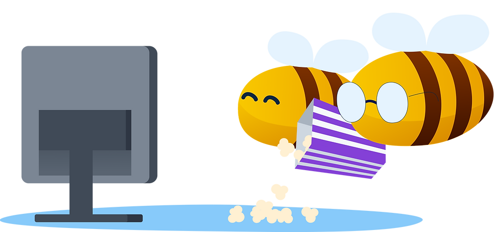 practical money skills: bees watching television