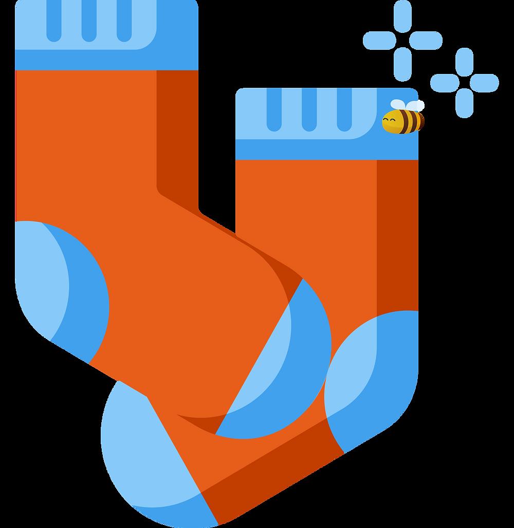 hyggelig: a pair of wollen socks