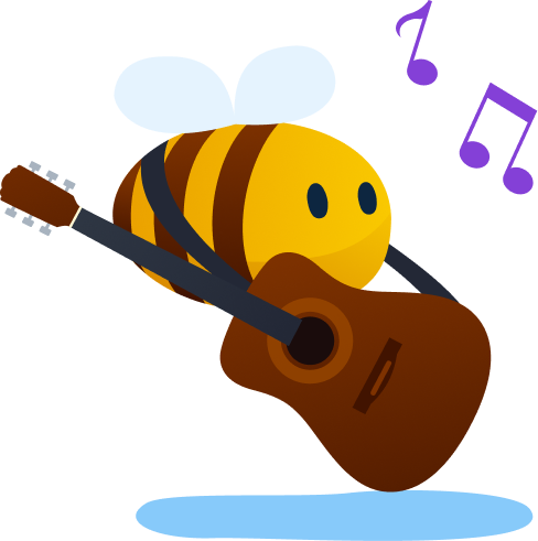 video streaming platform - a bee that loves music