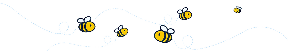 hyggelig: a bee text divider