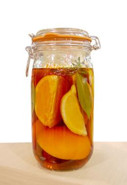柑橘×ハーブ×ブランデー