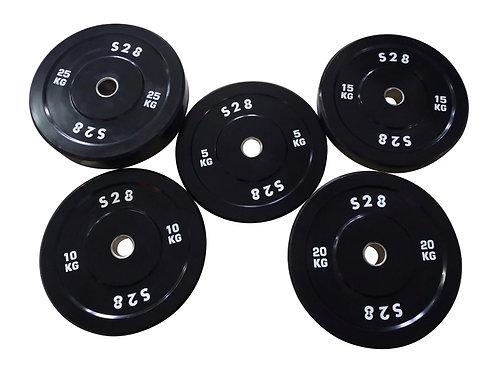 Barbell + 100kg Bumper Plates