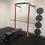 Thumbnail: Wall Rack + Barbell + 100kg Bumper Plates