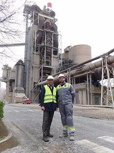 Jan Theulen (Director of Alternative Resources) abd Julien Wart (Plant Manager, Lixhe)