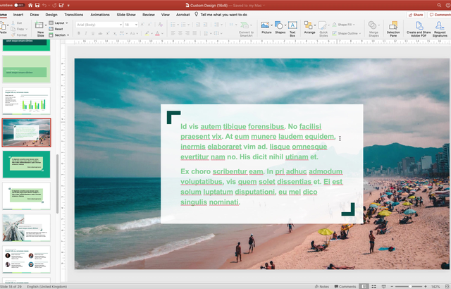 MS PowerPoint (Mac): Rearranging objects that overlap each other