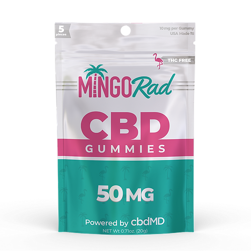 Mingo Rad CBD Gummies - 5 Pieces per Pack