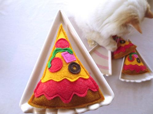 Feline Fun Delicious Pizza Slice with Catnip