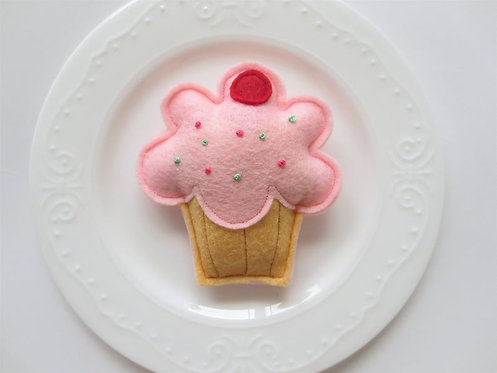 Feline Fun Catnip Cupcake Cat Toy