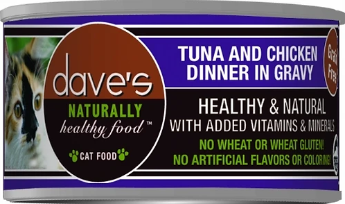 Dave's Naturally Healthy Tuna and Chicken Dinner in Gravy - 5.5 oz