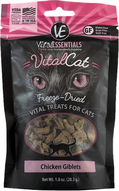 Vital Essentials Chicken Giblets Freeze-Dried Cat Treats - 1-oz