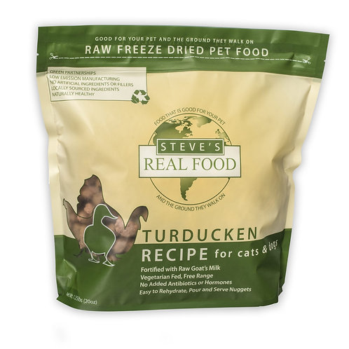 Steve's Freeze Dried Turducken for cats and dogs - 20 oz