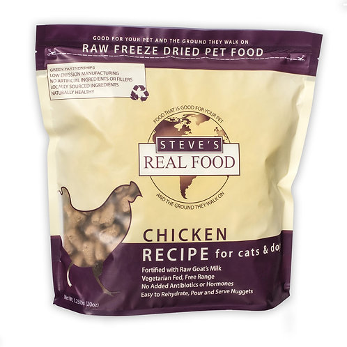 Steve's Freeze Dried Chicken for cats and dogs - 20 oz