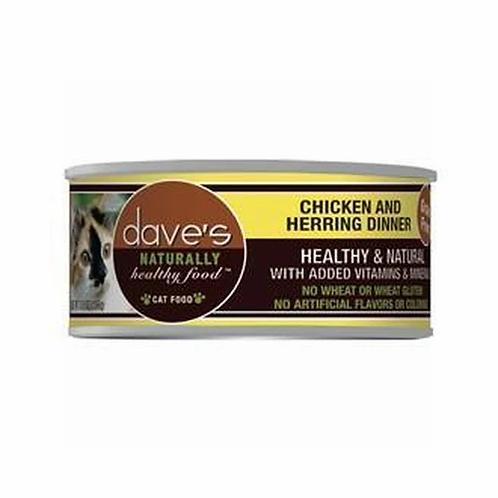 Dave's Pet Food Naturally Healthy Grain-Free Chicken & Herring Dinner - 5.5 oz