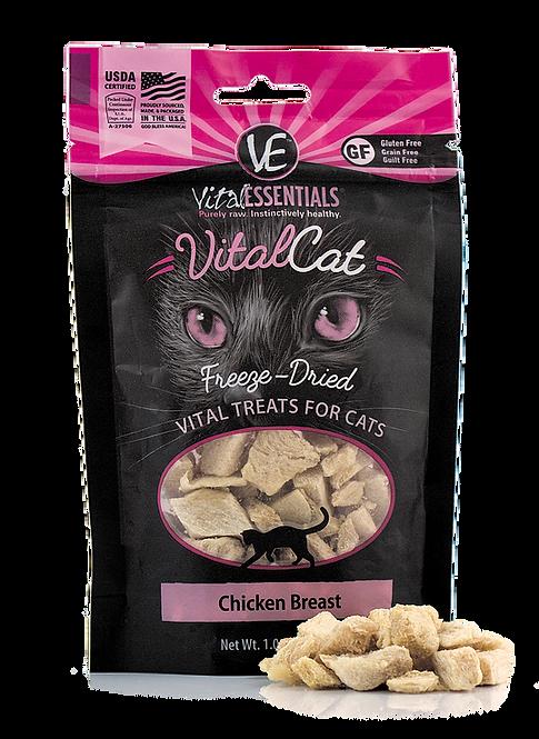 Vital Essentials Freeze Dried Treats - Chicken Breast - 1-oz