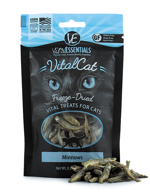 Vital Essentials Freeze Dried Treats - Minnows - .5-oz