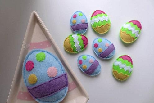 Feline Fun Cute Easter Egg - Set of 2