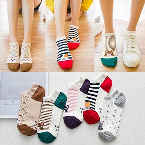 FAYBOX Women Low Cut Ankle Sock