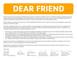 Head Start Dear Friend Letter