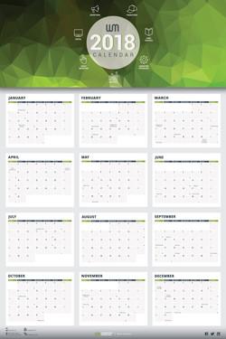 WebbMason Calendar for 2018