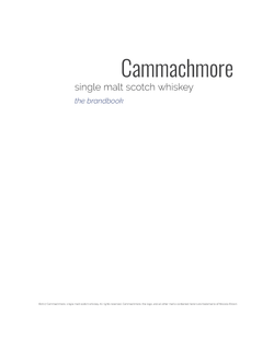 Cammachmore Title Page