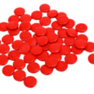 Set de 55 cuentas rojas