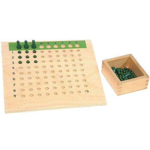 Tablero de dividir con caja y cuentas