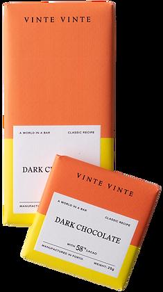 VINTE VINTE Tablete Chocolate Negro 58%