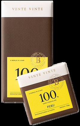 VINTE VINTE Tablete Chocolate Negro 100% Perú