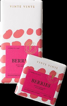 VINTE VINTE Tablete Chocolate Branco c/ Frutos Vermelhos