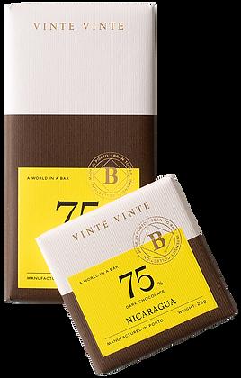 VINTE VINTE Tablete Chocolate Negro 75% Nicarágua