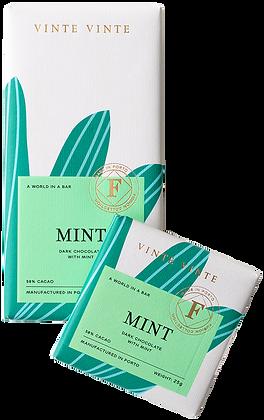 VINTE VINTE Tablete Chocolate Negro 58% c/ Menta