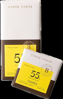 VINTE VINTE Tablete Chocolate Negro 55% Uganda