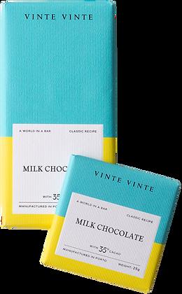 VINTE VINTE Tablete Chocolate de Leite 35%