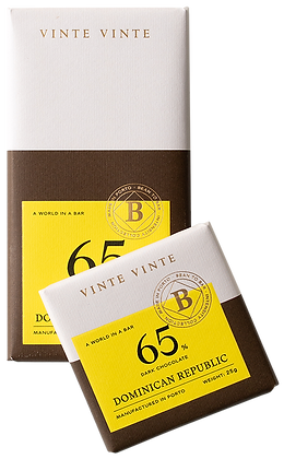 VINTE VINTE Tablete Chocolate Negro 65% República Dominicana