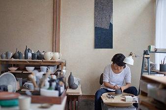 yuka ando, pottery , studio , atelier