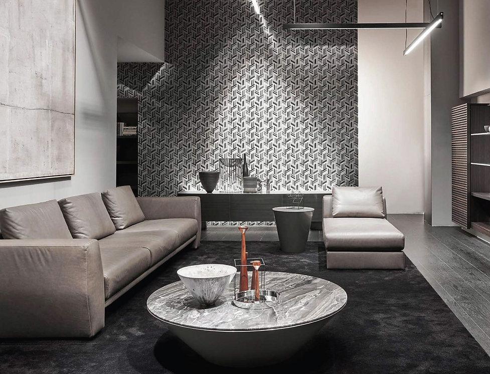 Celeste series-marble-glass-metal mosaic