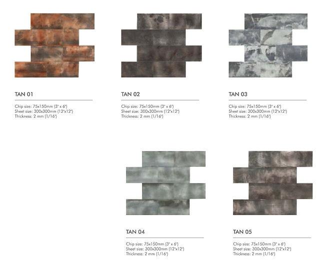 Columbus series - rustic aluminium mosai