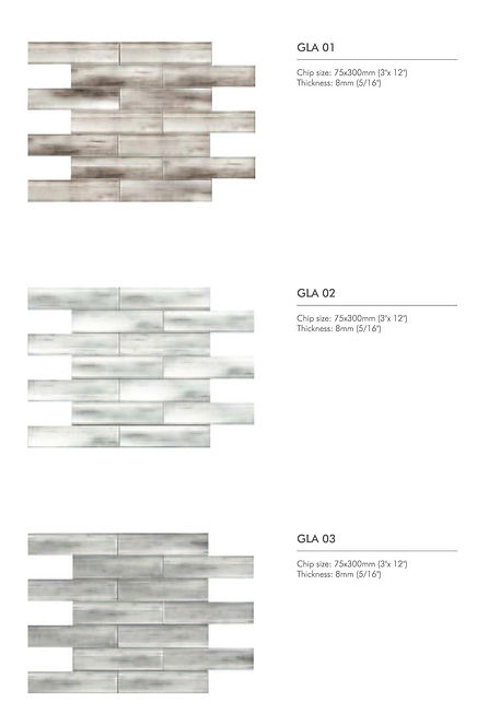 Glacier series - inkjet glass mosaics 1.