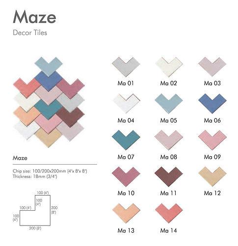 Jungle-Maze-Zen-Rythme series - Decor Ti