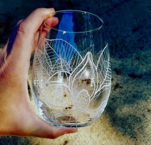 Magnolia BlossomWine Glass