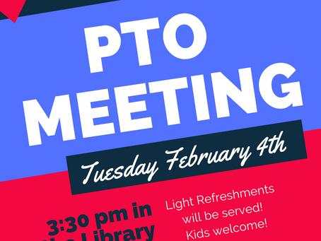PTO Meeting 2/4/20