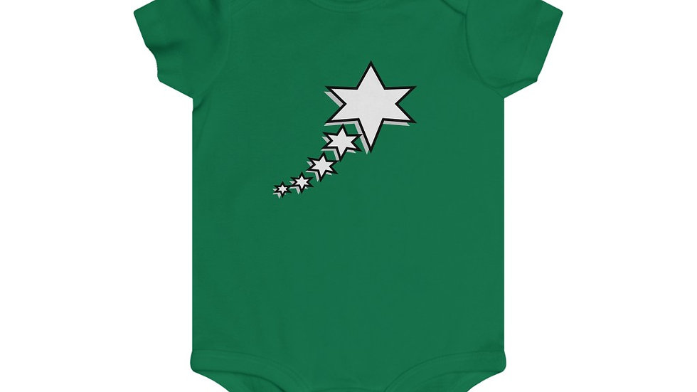 Infant Rip Snap Tee - 6 Points 5 Stars (White)