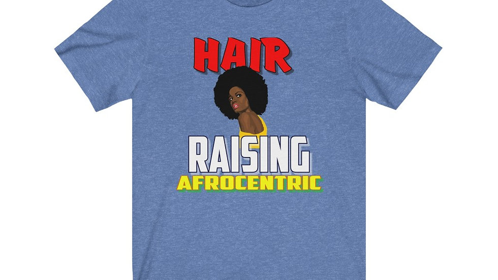 Unisex Jersey Short Sleeve Tee - Hair Raisin Afrocentric V