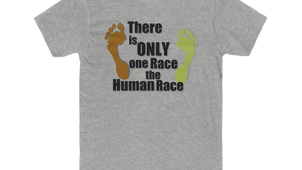 Men's Cotton Crew Tee - There is Only One Race