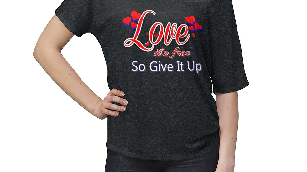 Women's Slouchy top - Love it's free