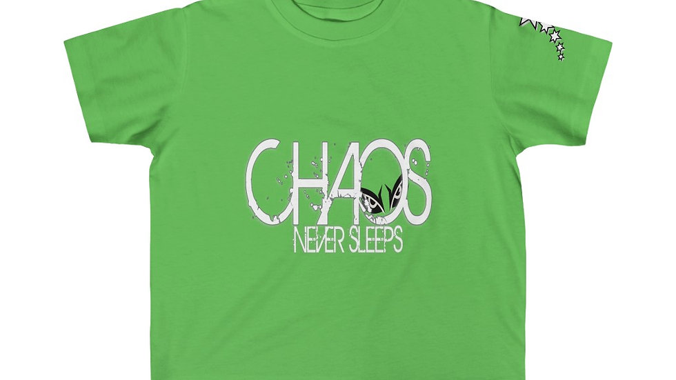 Kid's Fine Jersey Tee - Chaos Never Sleeps