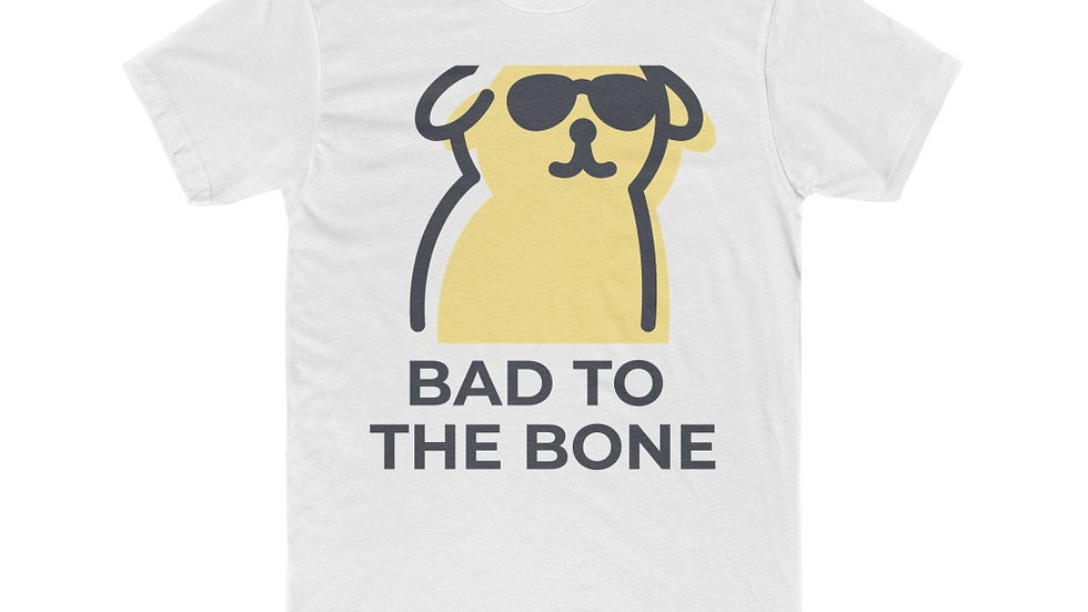 Men's Cotton Crew Tee --- Bad to the Bone