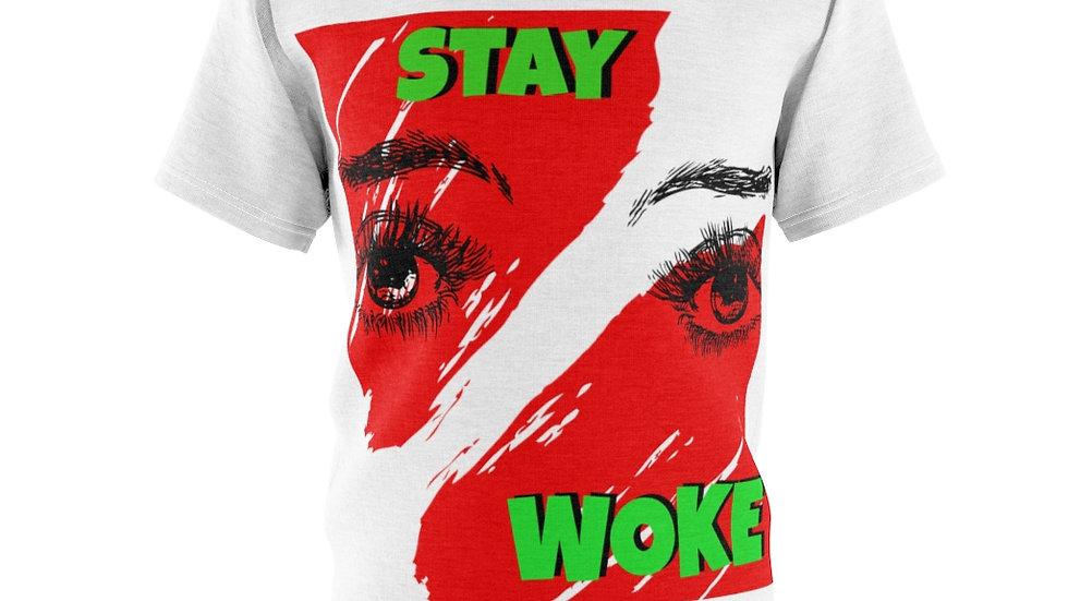 Unisex AOP Cut & Sew Tee - Stay Woke